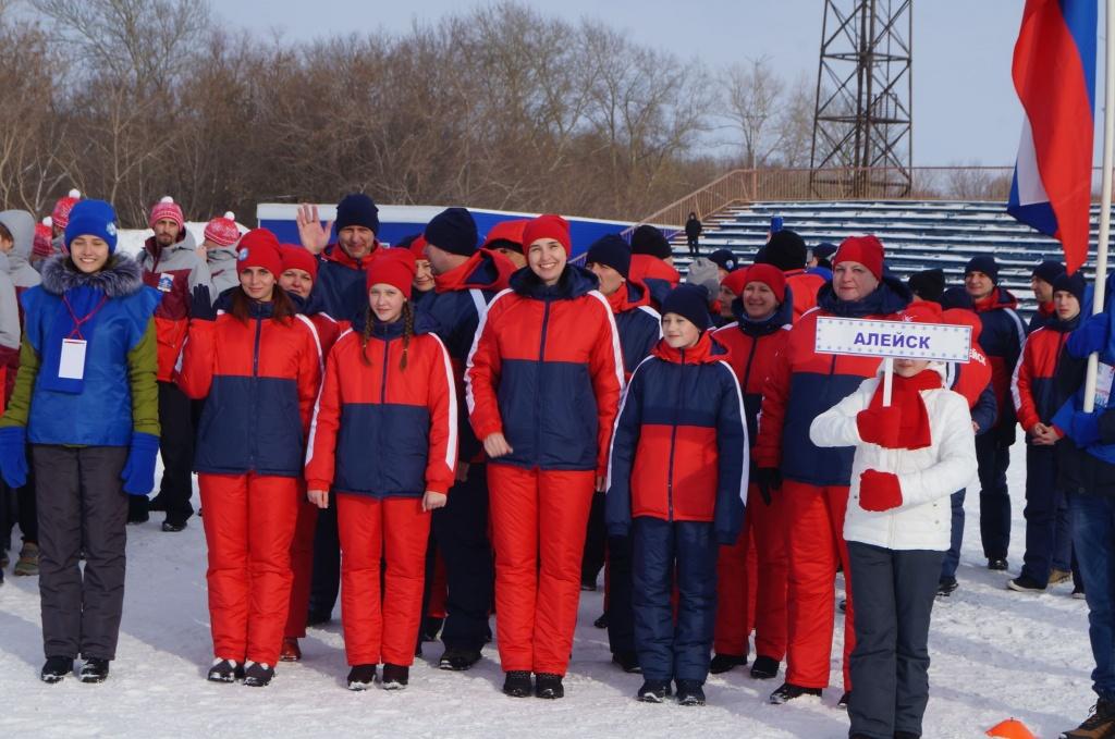 Сборная спортсменов из Алейска участвует в IX зимней олимпиаде городов Алтайского края в Рубцовске